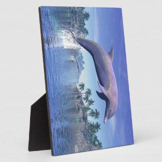 Placa Expositora Delfín en las zonas tropicales - 3D rinden