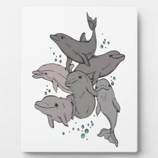Placa Expositora Delfínes juguetones