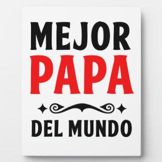 Placa Expositora delmonico de la papá del mejor