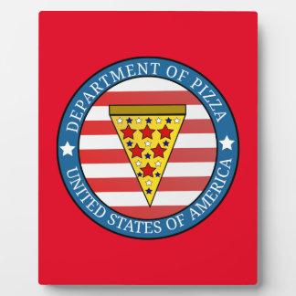 Placa Expositora Departamento de pizza