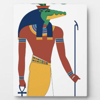 Placa Expositora Dios del cocodrilo de Sobek