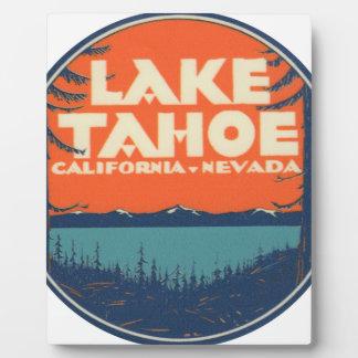 Placa Expositora Diseño de la etiqueta del viaje del vintage del