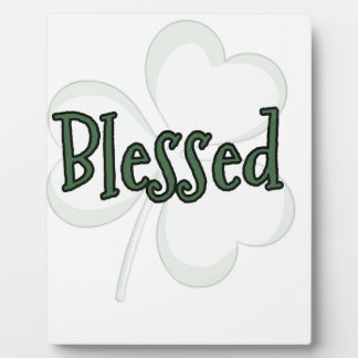 Placa Expositora Diseño del día de St Patrick bendecido
