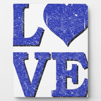 Placa Expositora diseño del vintage del amor