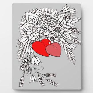 Placa Expositora Dos corazones 2