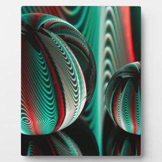 Placa Expositora Dos reflexiones de las bolas en las bolas de