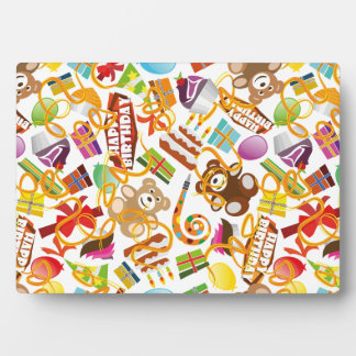Placa Expositora Ejemplo del modelo del feliz cumpleaños