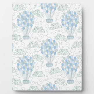 Placa Expositora El aire caliente hincha arte azul de la pared de