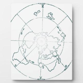 Placa Expositora El blanco Polo Norte AE traza