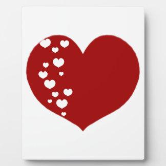 Placa Expositora El corazón sigue blanco rojo