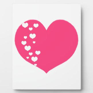 Placa Expositora El corazón sigue blanco rosado