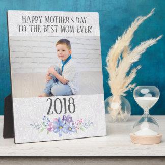 Placa Expositora El día de madre floral de la foto del cordón