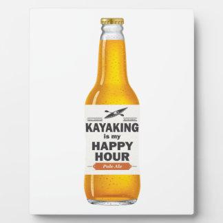 Placa Expositora El Kayaking es mi hora feliz