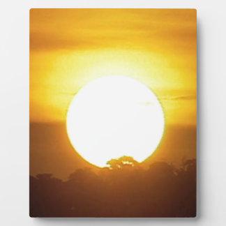 Placa Expositora el kground añade la puesta del sol CONOCIDA de la