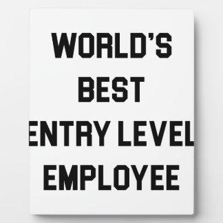 Placa Expositora El mejor empleado del nivel de entrada