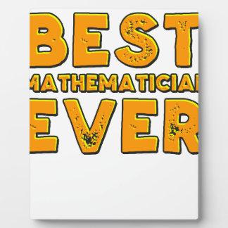 Placa Expositora El mejor matemático nunca
