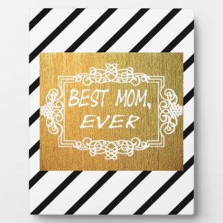 Placa Expositora El mejor regalo del oro del día de madre de la