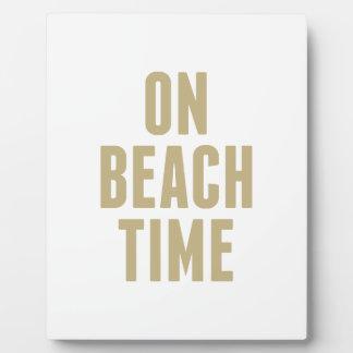 Placa Expositora El tiempo de la playa