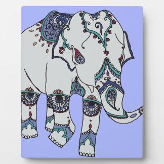Placa Expositora Elefante de Boho de la serenidad