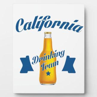 Placa Expositora Equipo de consumición de California