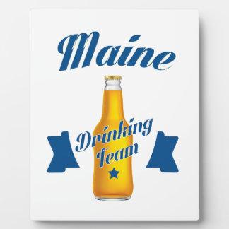 Placa Expositora Equipo de consumición de Maine