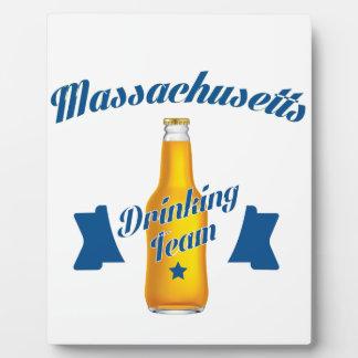 Placa Expositora Equipo de consumición de Massachusetts