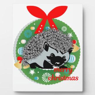 Placa Expositora erizo de las Felices Navidad