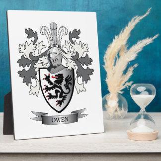 Placa Expositora Escudo de armas del escudo de la familia de Owen