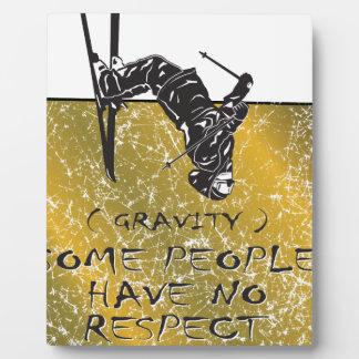 Placa Expositora Esquiador de la gravedad