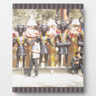 Placa Expositora Estatua cultural de la demostración de la India de