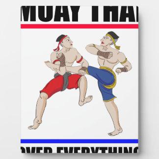 Placa Expositora Excesivo tailandés de Muay todo