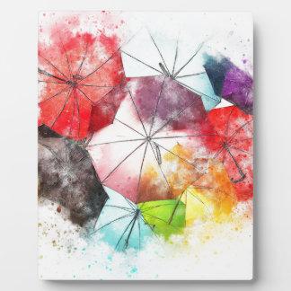 Placa Expositora Extracto colorido de los paraguas