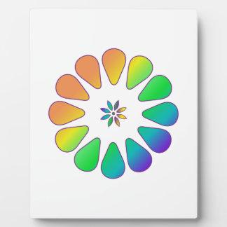 Placa Expositora Flor del arco iris