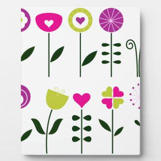 Placa Expositora Flores populares/negro rosado mágico en blanco