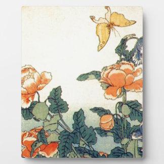 Placa Expositora Flores y una mariposa