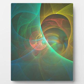 Placa Expositora Fractal abstracto multicolor