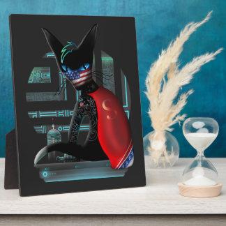 Placa Expositora Gato de Ninja del Cyberpunk