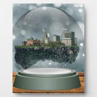 Placa Expositora Globo de la nieve de la isla de Providence