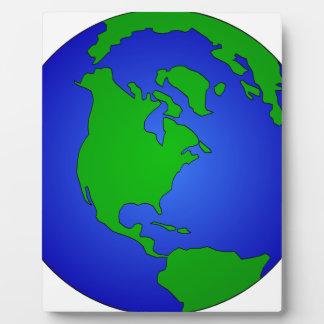 Placa Expositora Globo de la tierra