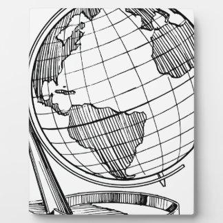 Placa Expositora Globo del mundo