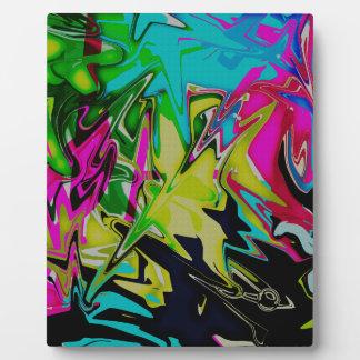 Placa Expositora Goteo fundido abstracto oscuro del color