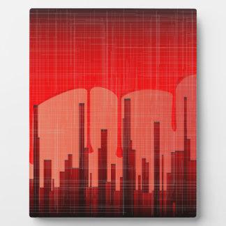 Placa Expositora Grunge de la ciudad de la sangre