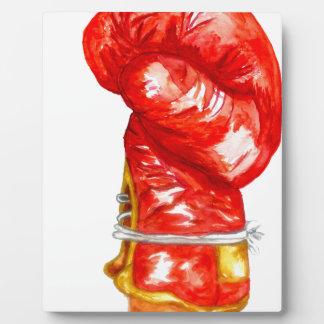Placa Expositora Guante de boxeo rojo