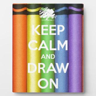 Placa Expositora Guarde la calma y dibuje en colores