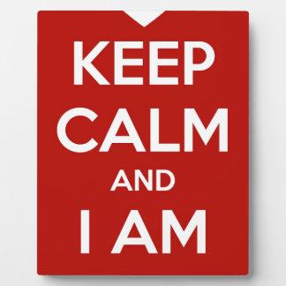Placa Expositora Guarde la calma y soy su tarjeta del día de San