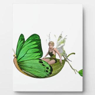 Placa Expositora Hada de Elven en un barco de la hoja