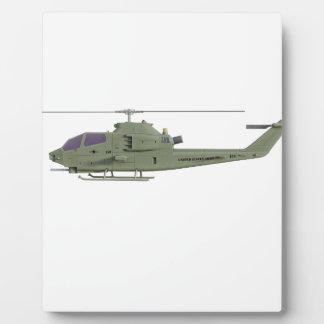 Placa Expositora Helicóptero de Apache en perfil de la vista