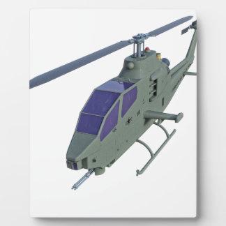 Placa Expositora Helicóptero de Apache en vista delantera