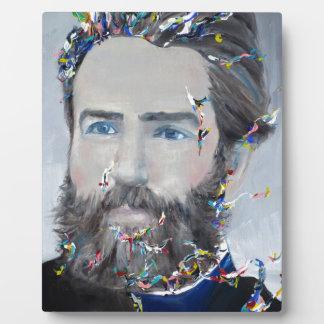 Placa Expositora Herman Melville - retrato del aceite