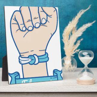 Placa Expositora hombres bracelet-01 del cáncer